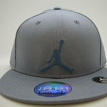 Mens Air Jordan Fitted Hat True Jumpman Fly Black Flint Grey Aqua Used Cheap Photo