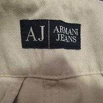 Mens  Aj Armani Auth High End Quallity Denim Beige Straight Leg Jeans Size 42 Photo