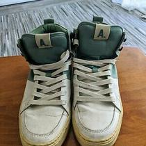 Mens Aldo High Top Sneakers Size 8 White Green Color Block  Photo