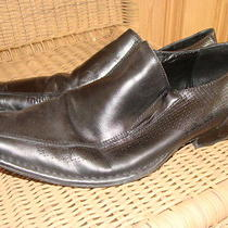 Mens Aldo Leather Black Shoes Boots Slip on 41 Sexy Dress Casual Work Nice Usa 9 Photo