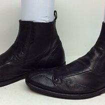 Mens Aldo Square Toe Casual Leather Black Boots Size 40 Photo