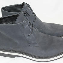 Mens Alexander Wang Emmett Nubuck Chukka Boot Navy Blue Leather - 42 / 9us (Q54) Photo