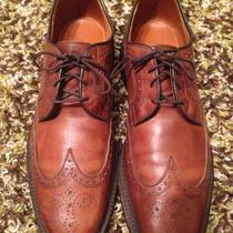 Mens Allen Edmonds Hudson Wing Tip Brown Leather  Shoes Size 7 Photo
