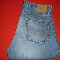 Mens American Eagle Classic Boot Cut Blue Jeans Size 34 X 32 Photo