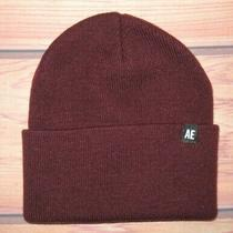 Mens American Eagle Outfitters Maroon Burgundy Beanie Hat One Size Photo