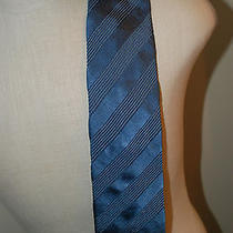 Mens Armani Collezioni Silk Mens Tie Blue  Photo