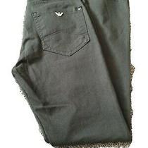 Mens Armani Jeans J20 Stretch Denim Jeans  Olive Slim W30 L30 Excellent  Photo