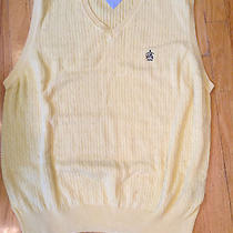 Mens Aronimink Golf Club Tommy Hilfiger Yellow Cotton Golf Vest Size Xl Photo