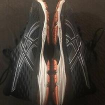 Mens Asics Cumulus 19 Shoe Running Size 8.5 Medium Width Orange Black White Photo