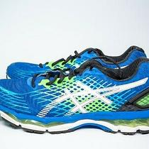 Mens Asics Gel Nimbus 17 Running Shoes Size 12 Blue Green Black White T507n Photo