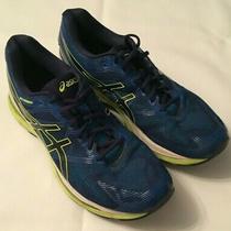 Mens Asics Gel Nimbus 19 Blue/green/white Running Shoes T700n F451016 Mens Sz 12 Photo
