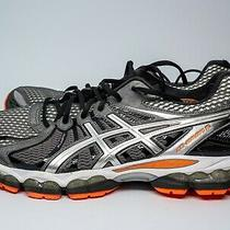Mens Asics Gel-Nimbus15 T3b0n Running Shoes Size 12 Gray Black Orange Photo