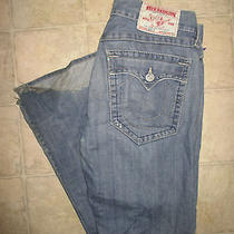 Mens Authentic True Religion Jeans  Billy Row 34 Seat 33  Photo