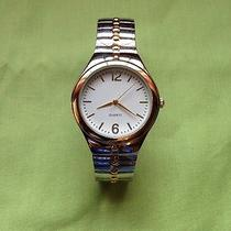 Mens Avon Watch Silver/gold Band Photo