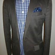 Mens Ax Armani Exchange Grey 100% Cotton Blazer Jacket Sport Coat Sz M Medium 40 Photo