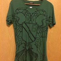Mens Balmain Green Cotton T-Shirt With Eagle Print Photo