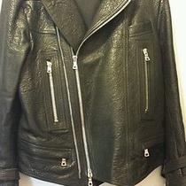 Mens Balmain Leather Motorcycle Jacket Photo