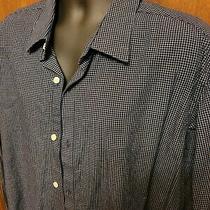 Mens Banana Republic Dress Shirt Size Xxl Blue 100% Cotton  Photo