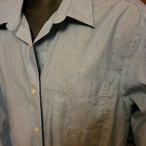 Mens Banana Republic Dress Shirt Size Xxl Light Blue 100% Cotton  Photo