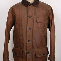 Mens Barbour Barn Wax Jacket Brown Size Large Photo