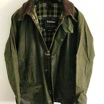 Mens Barbour Beaufort Wax Jacket Green Coat 42in Size Large / Extra Large L/xl 5 Photo