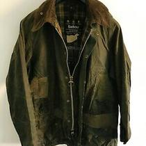 Mens Barbour Beaufort Wax Jacket Green Coat 42in Size Large / Extra Large L/xl Photo