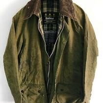 Mens Barbour Beaufort Wax Jacket Green Coat 42in Size Large / Extra Large L/xl 3 Photo
