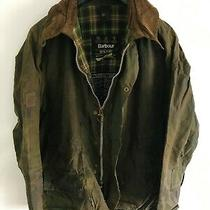 Mens Barbour Beaufort Wax Jacket Green Coat 46in Size L/xl Large / Extra Large  Photo