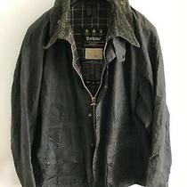 Mens Barbour Bedale Wax Jacket Blue Coat 52in Size 2xl / 3xl Overcoat Waterproof Photo