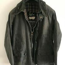 Mens Barbour Bedale Wax Jacket Dark Blue Coat 42 in Size Large / Extra Large 8 Photo