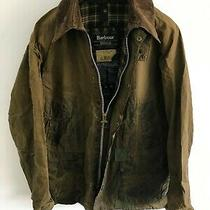 Mens Barbour Bedale Wax Jacket Dark Green Coat 44 in Size L/xl Overcoat Photo