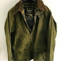 Mens Barbour Bedale Wax Jacket Green Coat 40 in Size Medium / Large M/l 3 Photo