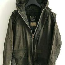 Mens Barbour Durham Hooded Wax Jacket Blue Coat Medium / Large M/l Lightweight 2 Photo