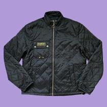 Mens Barbour International Bowmore Quilted Jacket Coat Black Size M Medium Photo