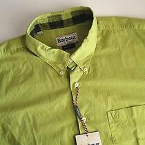Mens Barbour Size L Green Castlerigg Summer Leaf Long Sleeved Shirt Photo