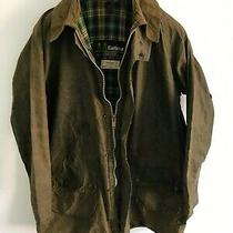 Mens Barbour Vintage Gamefair Wax Jacket Green Coat 42in Size Large  Extra Large Photo