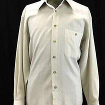 Mens Beige Yves Saint Laurent L/s Button Front Casual Dress Shirt Lightweight M Photo