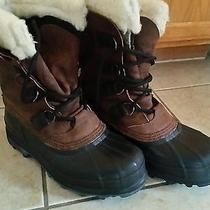 Mens Big Horn Sorel Insulated Leather Winter Snow Boots Hand Crafted Sz 8 Photo