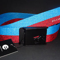 Mens Billabong Americana Looper Blue/red Adjustable Belt One Size Photo