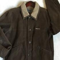 Mens Billabong Corduroy Fleece Jacket Coat Brown Size Medium Photo