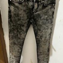 Mens Black/ Acid Wash Blk Dmn Jeans Sz 31x 32 Photo