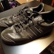 Mens Black Adidas Samoa Size 10.5 G22596 Leather Indoor Soccer Shoes Sneakers Photo