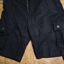 Mens Black Cargo Shorts 40 Mossimo Converse Vans Deftones Limp Bizkit Warped Photo