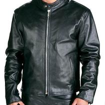 Mens Black Leather Motorcycle Biker Cruiser Jacket by X-Element Large Photo