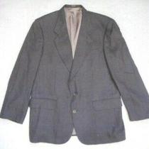 Mens Blazer-Oscar De La Renta-Brown/green/navy Houndstooth 100% Wool Lined-42r Photo