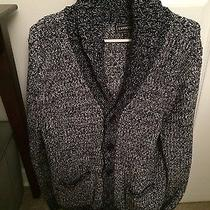 Mens Blue and White Cardigan Photo