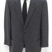 Mens Blue Mani Giorgio Armani Soft Tweed Blazer Jacket Sport Suit Coat 46 R L Photo