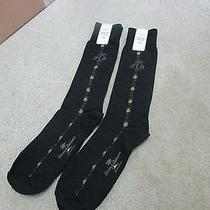 Mens Bnwt 2 Pairs Tommy Bahama Black Almond Smooth Sailing Hand Linked Toe Socks Photo