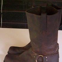 Mens Boots Size 11 1/2 Frye Brown Oil Resistant Usa Made Real Leather Photo