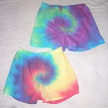 Mens Boxer Shorts Set 2 Tie Dye Hippie Art Underwear M Aqua Red Green 32 34  Photo